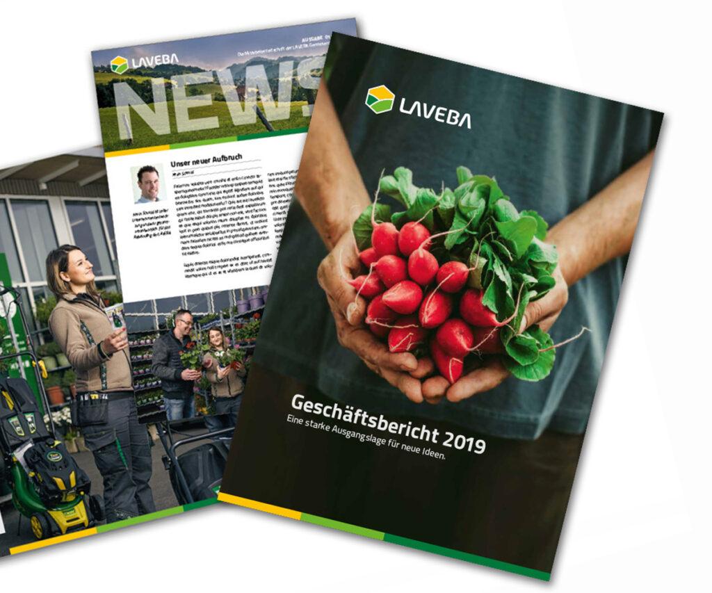 LAVEBA | Broschüren und Geschäftsberichte
